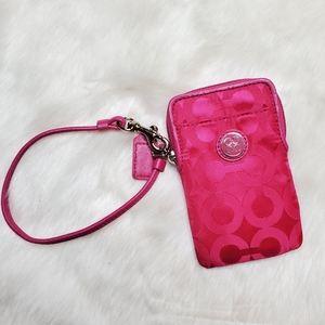 Coach Phone Case/ Phone Pouch Wristlet
